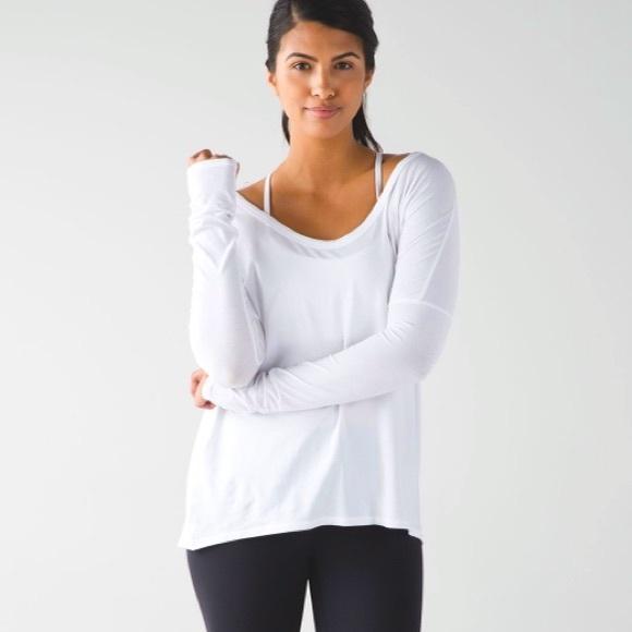 Lululemon Reversible White Long Sleeve Shirt